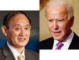 1월 28일 처음 전화통화를 한  스가 요시히데 일본 총리(왼쪽)와  조 바이든 미국 대통령. [니케이아시안 리뷰]