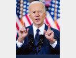 조 바이든 미국 대통령이 3월 31일 펜실베이니아주 피츠버그에 있는 카펜터스 피츠버그 트레이닝센터에서 2조 달러 규모의 인프라 투자 계획을 발표하고 있다. [뉴시스]