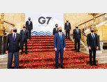 주요 7개국(G7) 외교장관들이 5월 5일 회의에 앞서 기념촬영을 하고 있다. [미국 국무부 홈페이지]