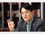 더불어민주당 박용진 의원이 5월 28일 서울 여의도 국회 의원회관에서 대선후보로서 비전을 설명하고 있다. [조영철 기자]
