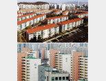 서울 양천구 목동(위)과 노원구 상계동 일대 아파트 단지. [뉴스1]