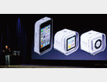 2010년 9월 미국 샌프란시스코에서 스티브 잡스 당시 애플 최고경영자가 '아이팟 터치' 출시와 관련해 기자회견을 하고 있다. [GETTYIMAGES]