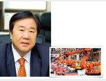 우오현 SM그룹 회장(왼쪽). SM그룹 계열사 남선알미늄 자동차사업부문 설비. [사진 제공 · SM그룹]