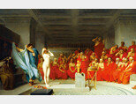 장 레옹 제롬의 '아레오파고스 앞의 프리네(Phryne before the Areopagus)'. [함부르크 미술관 홈페이지]