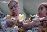 """발톱 깎기 거부하는 고양이에게 하악질로(?) 응수한 집사..""""집사야 왜 그러냥?"""""""