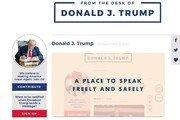 SNS 퇴출당한 트럼프, 새 웹사이트 공개…댓글은 불가