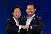 """이준석 """"내로남불"""" vs 송영길 """"김경수 순진해서 이용당해""""…첫 토론서 설전"""