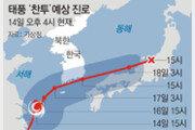 태풍 '찬투' 17일 남해통과… 제주-남부 300mm 물폭탄