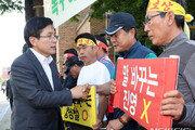 강원 산불피해 이재민들, 황교안·나경원 대표에 울분·분노 쏟아내