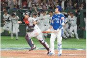 1회 3점 얻고 끝… 일본 '벌떼 마운드'에 당했다