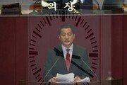 박대출, 5시간50분 토론 마쳐…선거법 필리버스터 '최장기록'