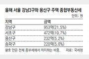 작년 전국 주택 종부세의 42%, 강남3구-용산서 냈다