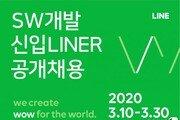 """라인, 신입 개발자 공개채용…""""면접도 온라인으로"""""""