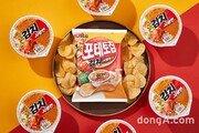 """""""두 번째 사발면 콜라보""""… 농심, ' 포테토칩 김치사발면맛' 출시"""