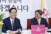 """""""文대통령 협치 기대"""" 신임 인사차 방문 靑정무수석에, 주호영은…"""
