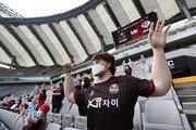 [현장리포트] 무관중 시대의 해프닝…서울의 마네킹 응원단에 달아오른 축구 팬