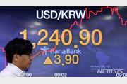 원·달러 환율, 두 달 만에 최고…1240원대 급등