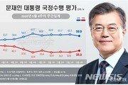 文대통령 지지율, 6주 만에 50%대 하락…윤미향 논란 영향