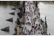 프라하 카를교 500m 길이 식탁
