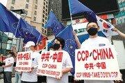 """""""홍콩 보안법 폐지하라"""" 주한 중국인 서울 도심서 집회"""