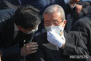 """""""물러가라""""…김종인, 박정희 전 대통령 추도식서 야유 받아"""