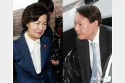 '긍정 평가' 추미애 32%·윤석열 39%… 秋, 대폭 하락