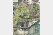 """9층 아파트 떠받친 암석, 알고보니 '머리 없는 석상'…""""붕괴 위험"""""""