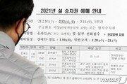 설 승차권 33만석 예매…'거리두기 영향' 지난해의 36% 수준