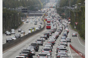 전국 고속도로 서울방향 혼잡…교통량 평소보다 증가