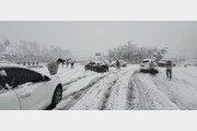 강원 동해안 폭설로 차량 고립…고갯길 수백대 3~4시간 갇혀