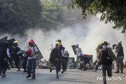 """""""미얀마 보안군, 시위대에 또 실탄 발포…2명 사망"""""""