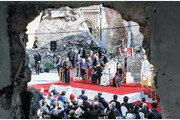 교황, 이라크 첫 방문… IS 공격 받은 교회 찾아