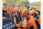 충북도 산불진화 헬기 추락…1명 심정지·1명 구조