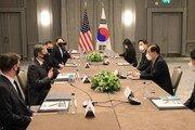 """한미 외교장관 런던서 회담…美 """"대북정책 목표는 적대 아닌 해결"""""""