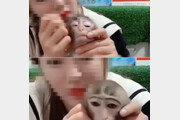 """원숭이 얼굴에 화장한 사육사…""""제품 홍보? 동물학대"""" 비난 (영상)"""