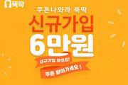 """뚝딱 """"쇼핑플랫폼 신규가입 시 6만 원 쿠폰 지급 프로모션 진행"""""""