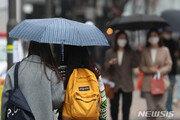 거친 금요일…곳곳 비·돌풍·우박, 전국 미세먼지 기승