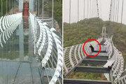 강풍에 260m 유리다리 와장창…관광객 고공 매달려 구사일생