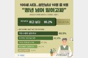 """성인남녀 10명 중 9명 """"정년 넘어도 일하고파""""…희망연봉 3728만원"""