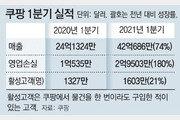 쿠팡 1분기 매출 4조7348억 사상최대… 3년전 年매출 뛰어넘어