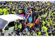 사드기지 주민-경찰 계속되는 충돌
