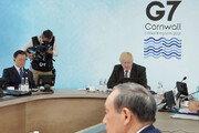 """아사히 """"스가, G7서 文대통령과 회담 피한건 비판 받을까봐"""""""