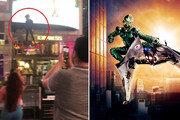 그린 고블린? 뉴욕 타임스퀘어 상공 가르는 남자의 정체는 (영상)