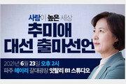 """김영환 """"DJ '추미애 띄워라' 나에게 지시…하지만 秋 출마 말리고 싶다"""""""