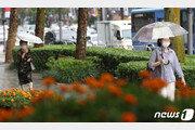 [날씨] 25일 전국 곳곳 최대 20㎜ 소나기…천둥·번개·우박 동반