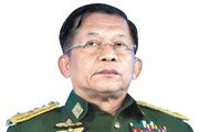 미얀마 쿠데타 주역, 셀프 총리 취임… '1년 비상통치' 약속 깨고 집권 연장