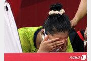 """[올림픽]눈물 쏟은 신유빈 """"많은 응원에 성적으로 보답 못해 죄송"""""""