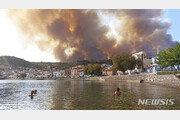 그리스 산불, 올림픽 발상지까지 접근…배 타고 대피 소동도