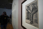 고흐가 29세때 그린 스케치 작품, 130여년만에 베일 벗었다