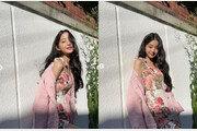 '코로나 완치' 장원영, 담벼락서 꽃미모 발산